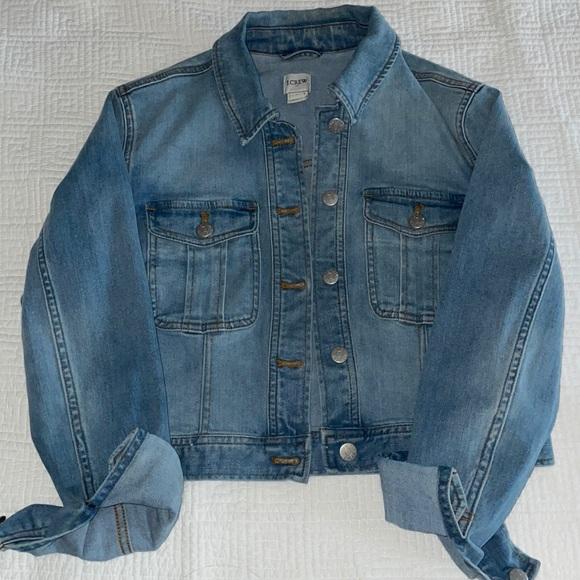 J Crew cropped denim jacket